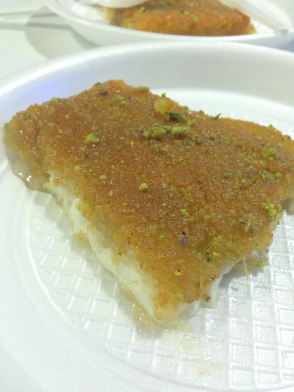 Kanafa from Habibah. Picture: Huda Aziz.