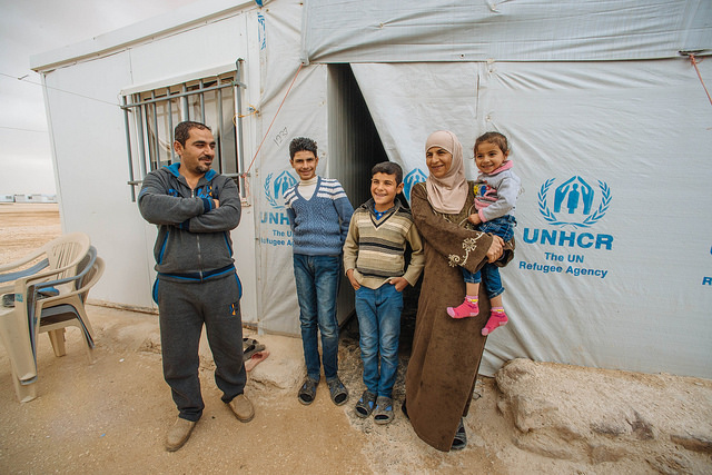 Syrian refugees at the Zaatari refugee camp in Jordan. Picture: UNHCR/ Jared Kohler
