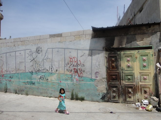 Little girl at Deheishe refugee camp near Bethlehem.