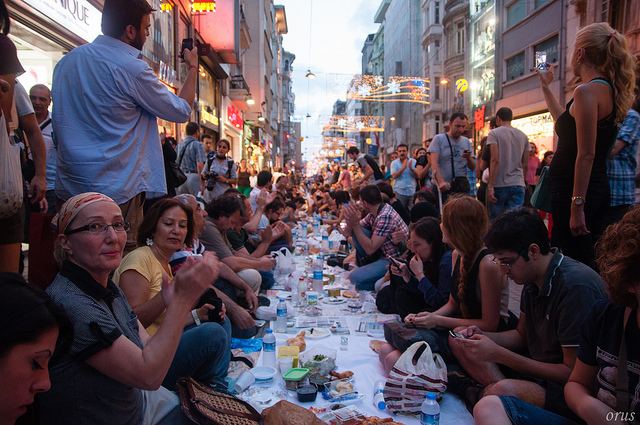 Street iftar in Turkey. Picture: Flickr/ Alper Orus