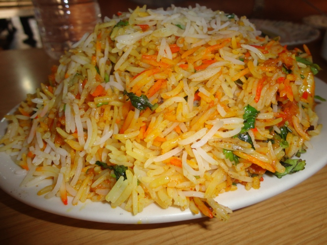 Chicken biryani at Telefood in DHA Phase 2 in Karachi, Pakistan.