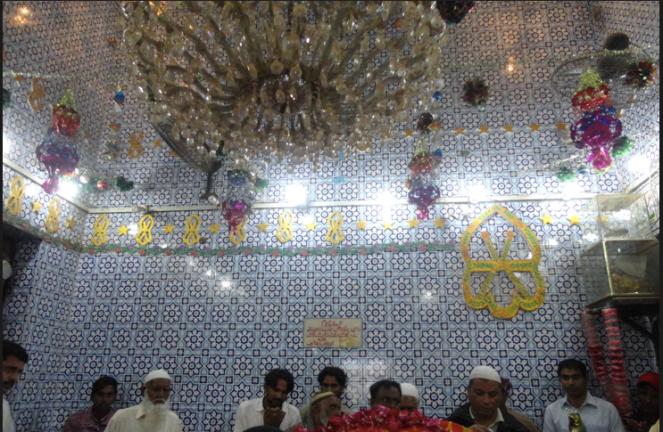 Abdullah Shah Ghazi shrine in Karachi.